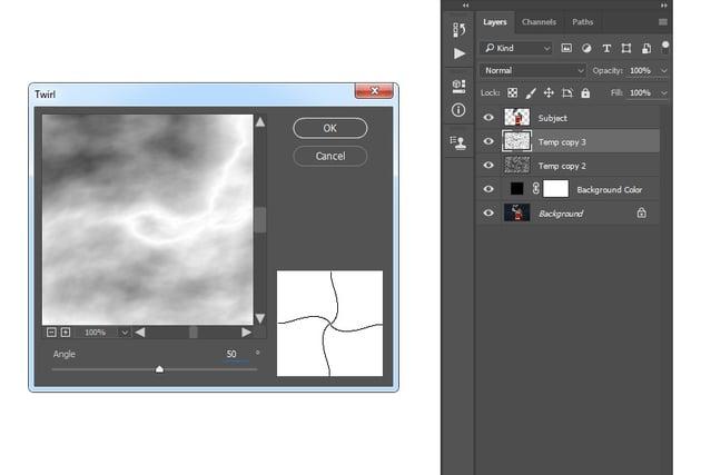 Adding twirl filter