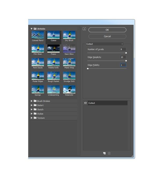 Adding cutout filter