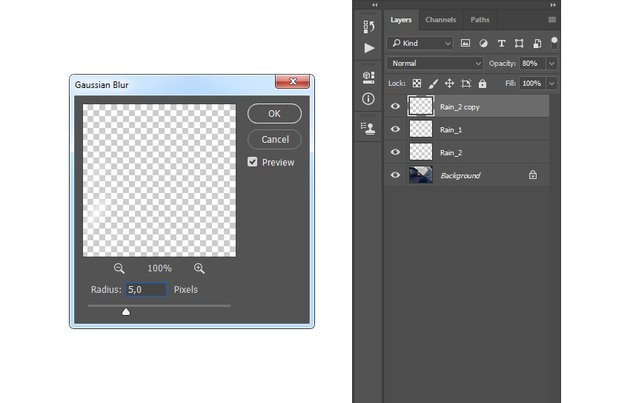 Adding gaussian blur filter