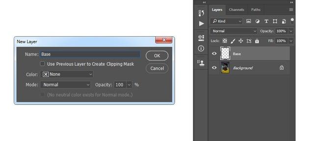 creating new layer