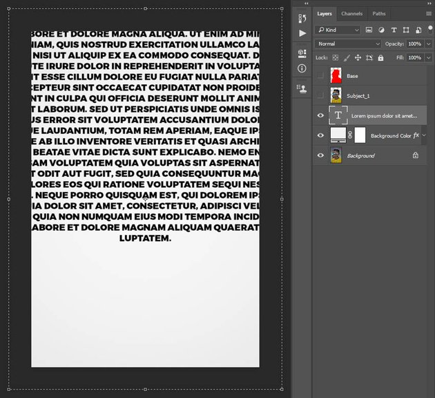 transforming text box