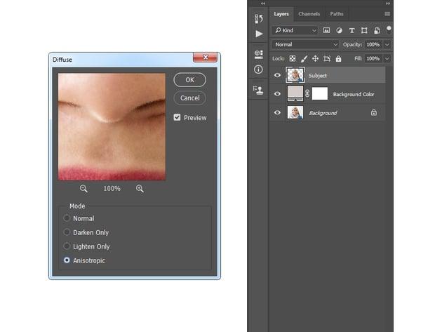 adding diffuse filter