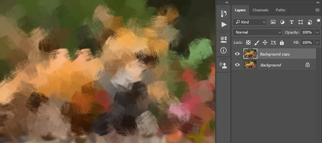 creating photoshop painting effect