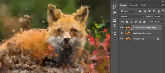 creating painting photoshop effect