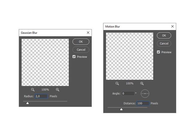 adding motion blur photoshop filter