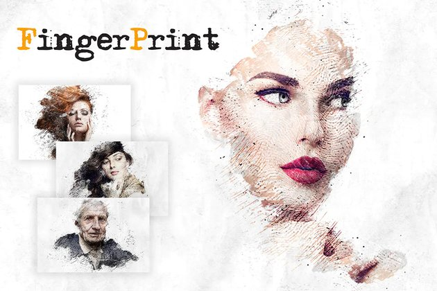 fingerprint photoshop action
