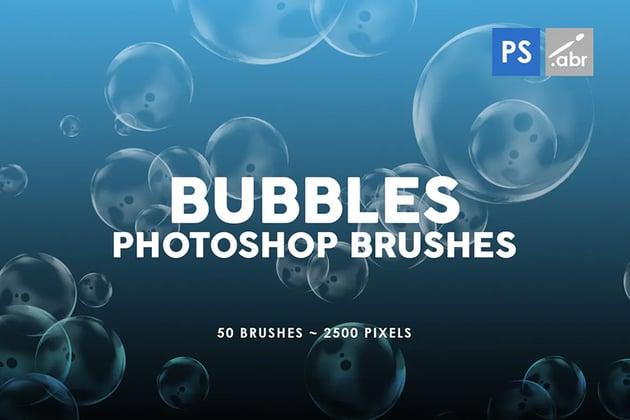 50 bubble photoshop brushes
