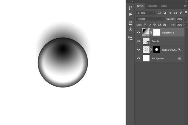 positioning gradient fill