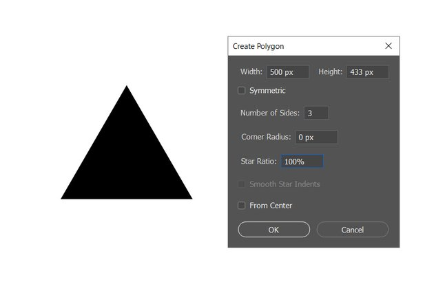 creating new polygon shape layer
