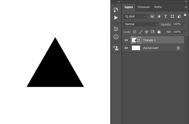 creating new triangle shape layer