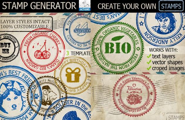 Rubber Stamp Photoshop Generator