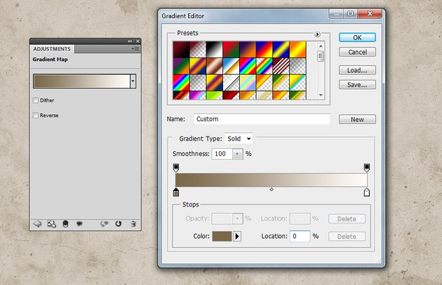 Change Background Color in Photoshop with Gradient Map