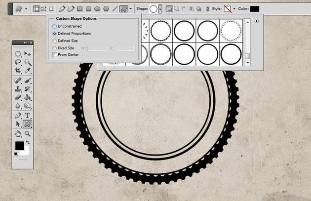 Circle Photoshop Custom Shapes