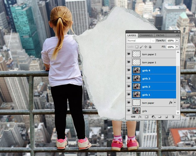 Move Layers in Photoshop