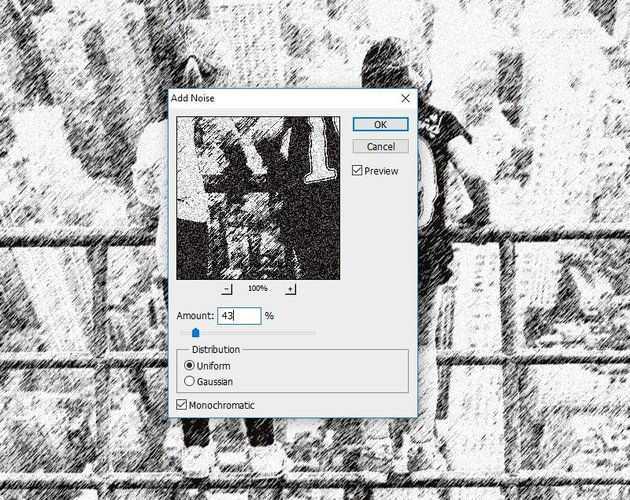 Add Noise Photoshop Filter