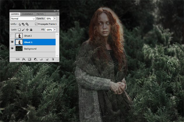 Layer Opacity in Photoshop