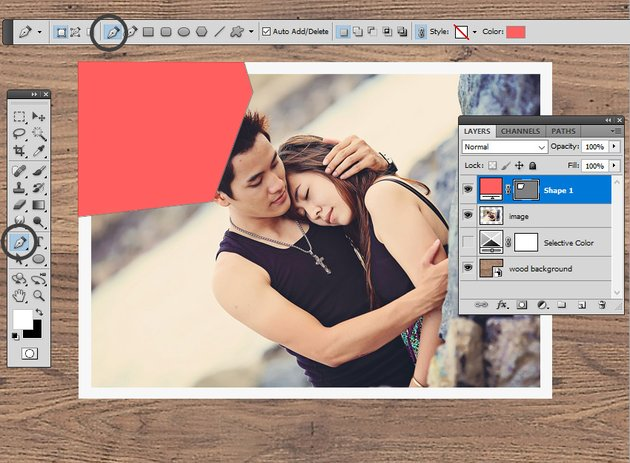 Use The Pen Tool in Photoshop