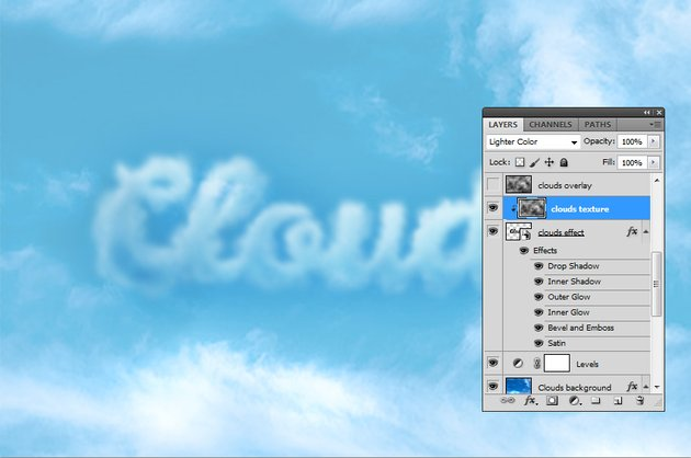 How to Add Clouds in Photoshop Tutorial Clipping Mask in Photoshop
