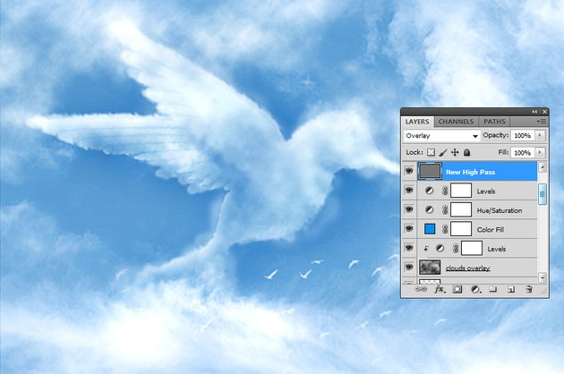 How to Make Clouds in Photoshop Tutorial High Pass Filter