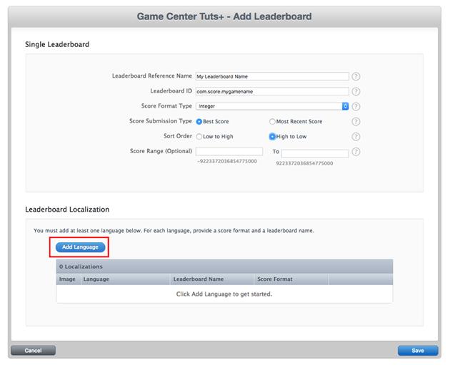 Set leaderboards details