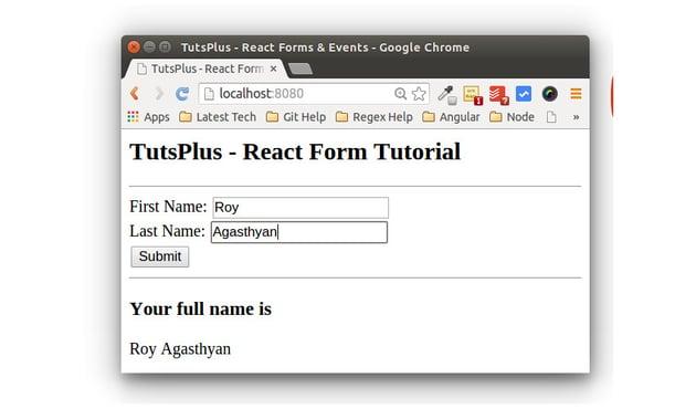 React Form App Form Fill