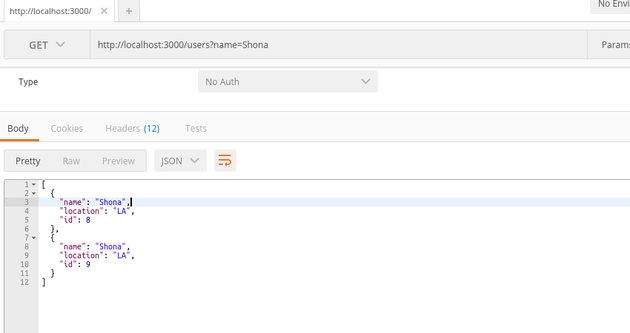 Sending a GET request to the REST API URL