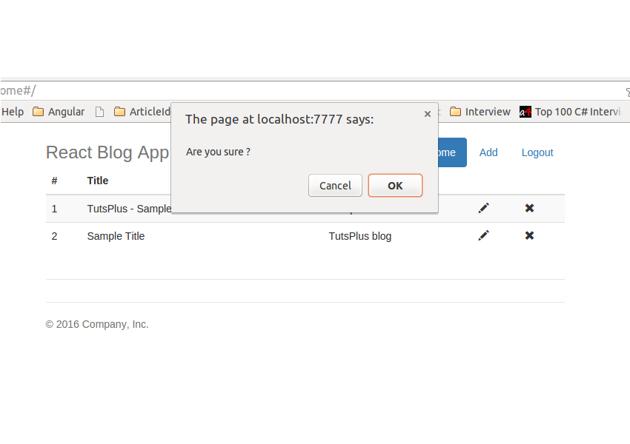 Delete Blog Post Confirmation