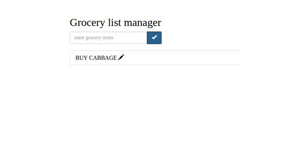 Grocery List Manager - Edit Button