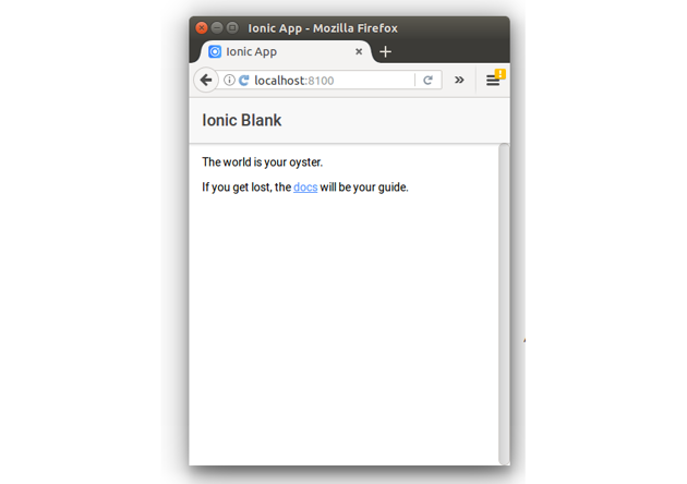 IONIC Blank Template Project