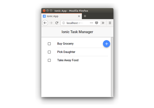 Ionic Task Manager