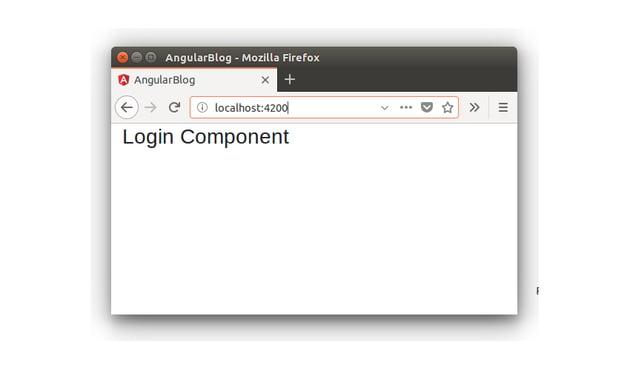 Login Component -  Blogging App
