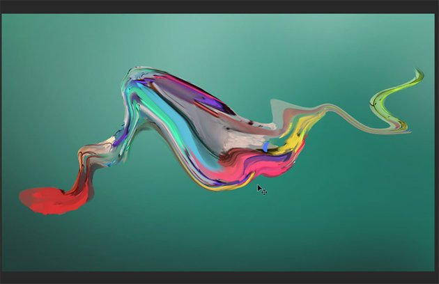 Completed liquified shape