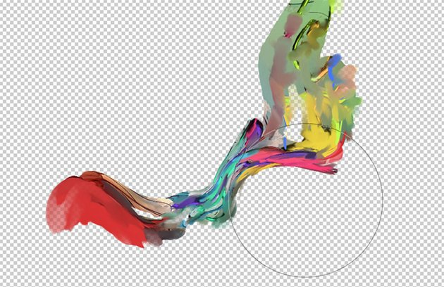 Liquify tool to create a flowing abstract