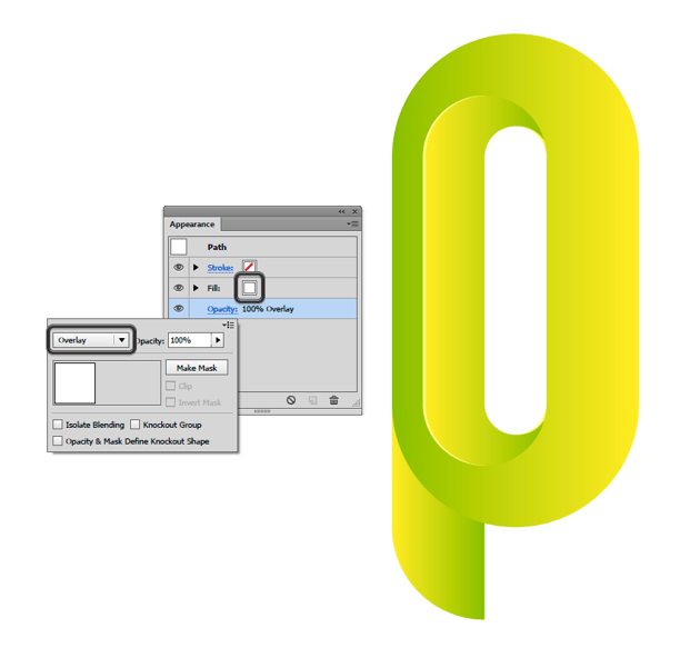 Set a Overlay in Blending Moves with White fill color