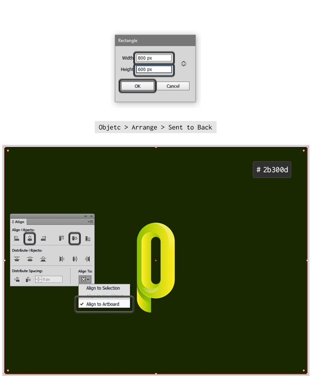 Creating a rectangle of 800 x 600 px as background to the logo