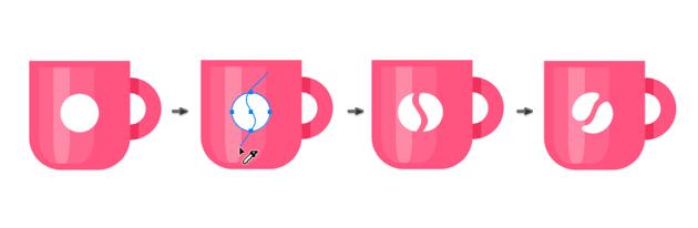 Creating a logo of coffee grain