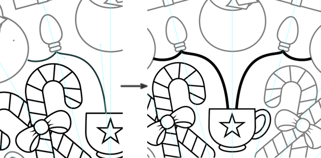use the pen tool to draw the wires for the lightbulb