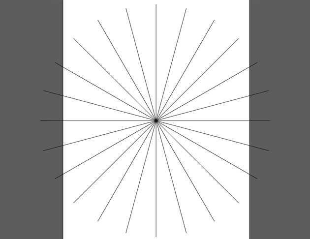 rotate the line segment to create guidelines on an angle