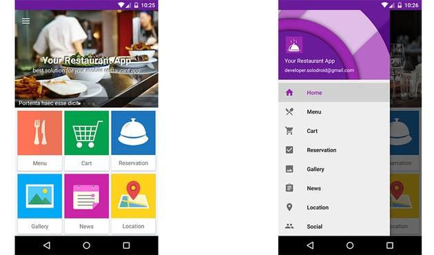 Your Restaurant App template