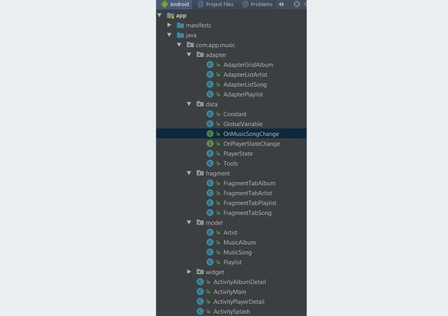 Project files structure in Android Studio