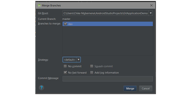 Merge branches dialog