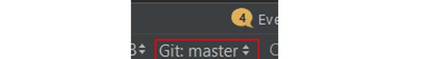 Git master drop-down menu