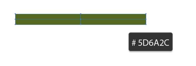 long narrow rectangle with 5D6A2C