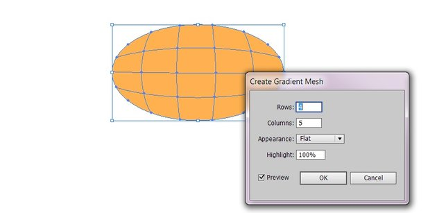 create gradient mesh as mentioned above