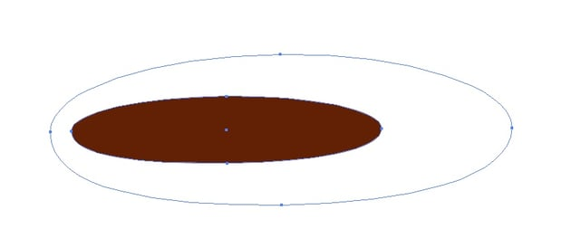 the smaller ellipse on the left