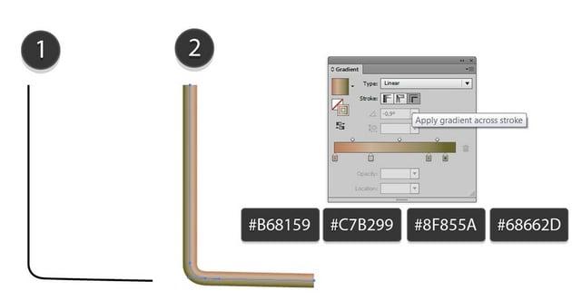 gradient B68159-C7B299-8F855A-68662D