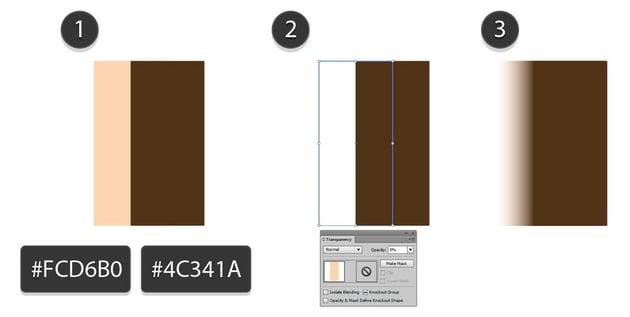 beige FCD6B0 brown 4C341A