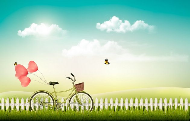 nature background with bike from graphicriver
