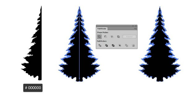 draw pine tree