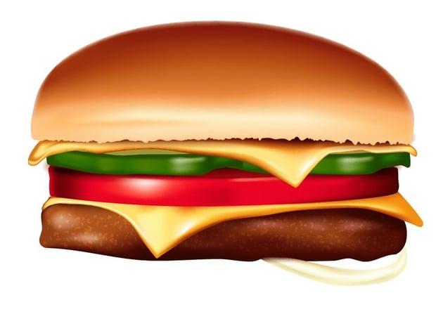 add elements of burger